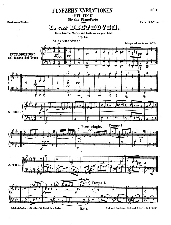All Music Chords beethoven sheet music : op.35: 15 variations Eroica Variations sheet music pdf download ...